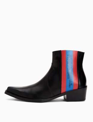 Calvin Klein est. 1978 patch leather boot