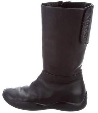 Prada Sport Girls' Leather Knee-High Boots