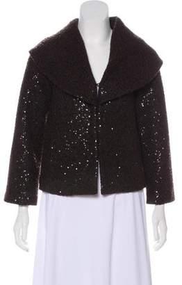 Alice + Olivia Embellished Wool-Blend Jacket