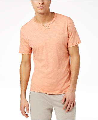 INC International Concepts I.n.c. Men's Soft Touch Split-Neck T-Shirt, Created for Macy's