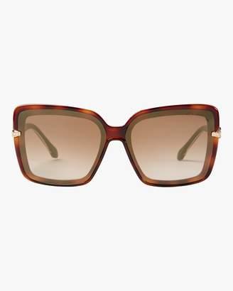 Roberto Cavalli Oversized Square &Snake& Sunglasses
