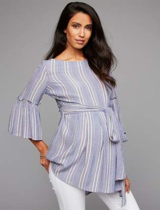 A Pea in the Pod Sash Belt Maternity Top
