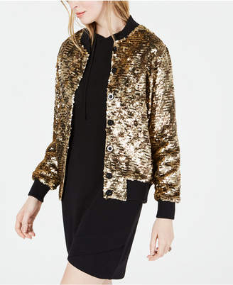Kimberly Blnk Bl^nk Sequin Bomber Jacket