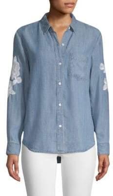 Rails Ingrid Floral Patch Denim Shirt