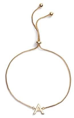 Argentovivo Gold Initial Bracelet