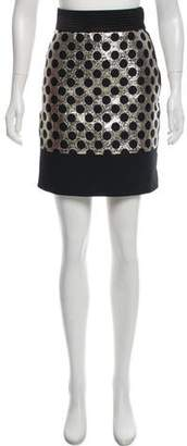 Ungaro Metallic Polka Dot Skirt w/ Tags