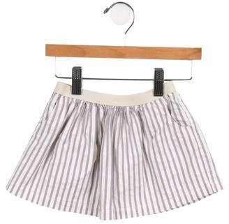 Babe & Tess Girls' Striped Flared Skirt