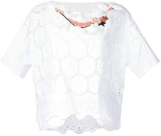 Antonio Marras scalloped floral top