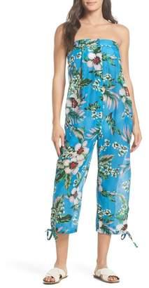 Diane von Furstenberg Beach Strapless Jumpsuit Cover-Up