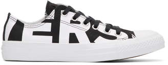 Converse Black and White Wordmark Chuck Taylor All Star Low Sneakers