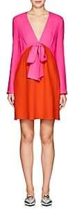 Lisa Perry Women's Colorblocked Crepe Sheath Dress-Pink, Orange