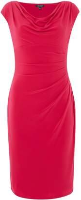 Lauren Ralph Lauren Cap sleeve gathered side dress