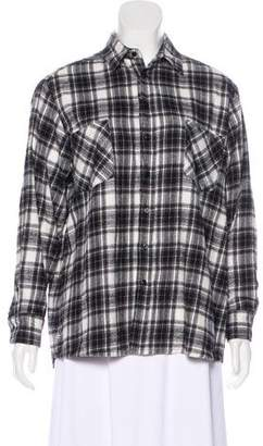 Each X Other Plaid Button-Up Top