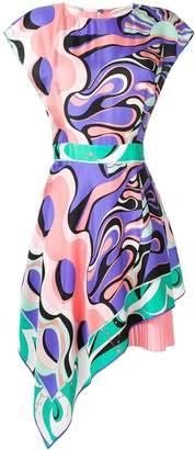 Emilio Pucci asymmetric Copacabana print dress