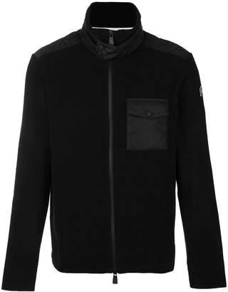 Moncler black zip front jacket
