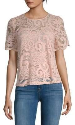 Nanette Lepore Floral Lace Top