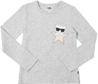 Karl Lagerfeld Choupette Star Cotton Jersey T-Shirt