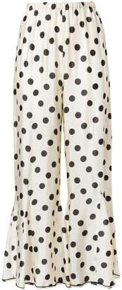 Hache polka-dot flared trousers