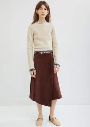 Acne Studios Corduroy Wrap Over Skirt