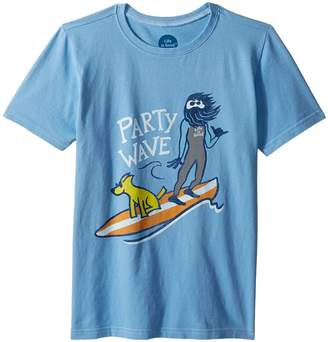 Life is Good Party Wave Surf Crusher Tee Boy's T Shirt