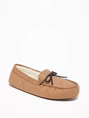 Old Navy Sherpa-Lined Moccasin Slippers for Men
