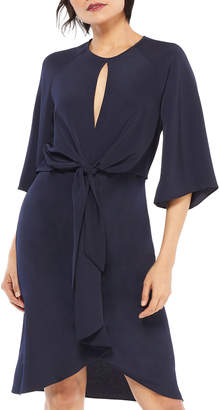 Maggy London Cascading Tie-Front Dress