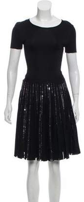 Christian Dior Sequin Pleated Dress Black Sequin Pleated Dress