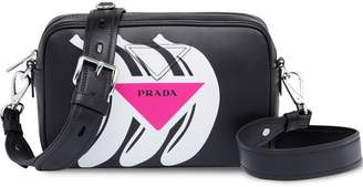 Prada Logo print leather shoulder bag