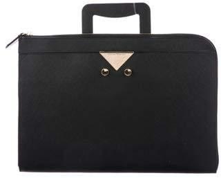 Giorgio Armani Textured Leather Portfolio