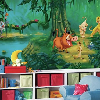 York Wall Coverings York Wallcoverings Disney's The Lion King Removable Wallpaper Mural