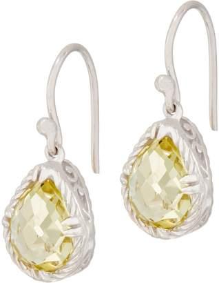 Delatori DeLatori Sterling Silver Pear Gemstone Drop Earrings