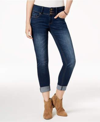 Indigo Rein Juniors' Cuffed Skinny Ankle Jeans