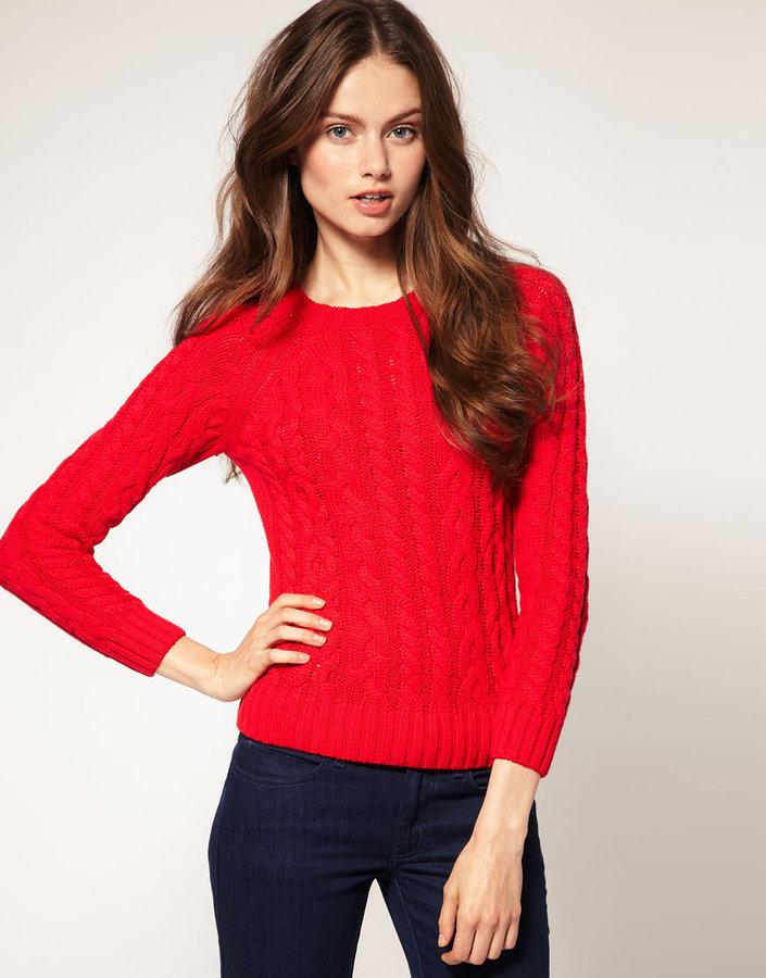 ASOS Colored Aran Sweater