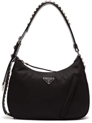 08d34c277a02fe Prada New Vela Studded Nylon Shoulder Bag - Womens - Black Multi