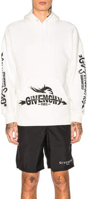 Givenchy Logo Hoodie in Off White | FWRD