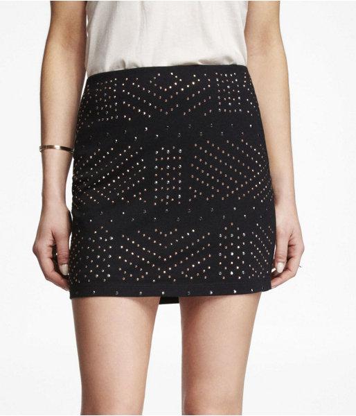 Express Studded Mini Skirt