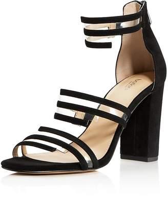 Botkier Women's Grecia Suede Illusion Strap High-Heel Sandals