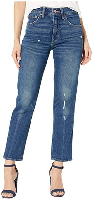 Lucky Brand Authentic Straight Crop Jeans in Broome Street Destruct
