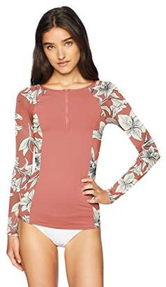 Roxy Women's Printed Softly Love Long Sleeve Rashguard