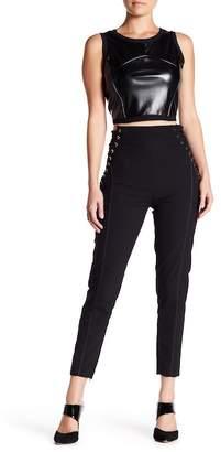 Gracia Side Lace-Up Stretch Pants