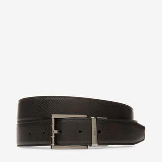 Bally Astor 35Mm Black, Men's embossed calf leather adjustable/reversible belt in black