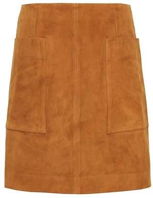 Banana Republic Petite Stretch-Suede Mini Skirt