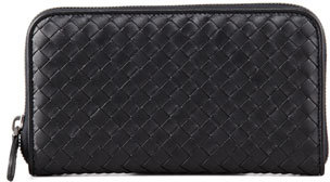 Bottega Veneta Bottega Veneta Continental Zip-Around Wallet, Black