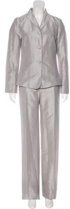 Celine Era Note Peaked Lapel Linen Pantsuit
