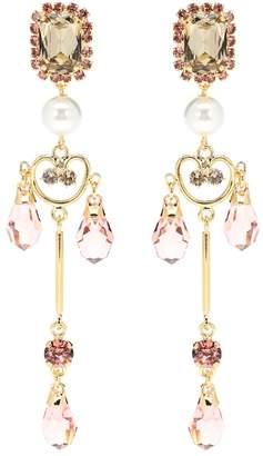 Erdem Lace Pendant clip-on earrings