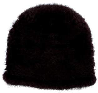 Cassin Knitted Mink Beanie