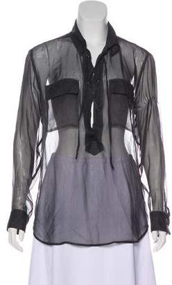 Equipment Sheer Silk Blouse