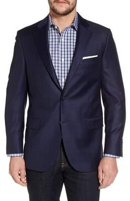 Peter Millar Classic Fit Windowpane Wool Sport Coat
