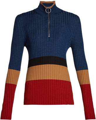 Marni High-neck colour-block sweater