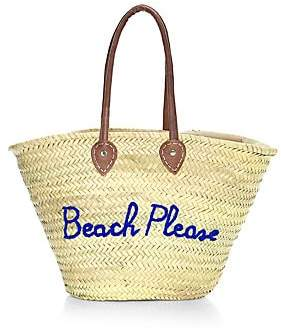 Poolside Women's Large Woven Straw Beach Tote